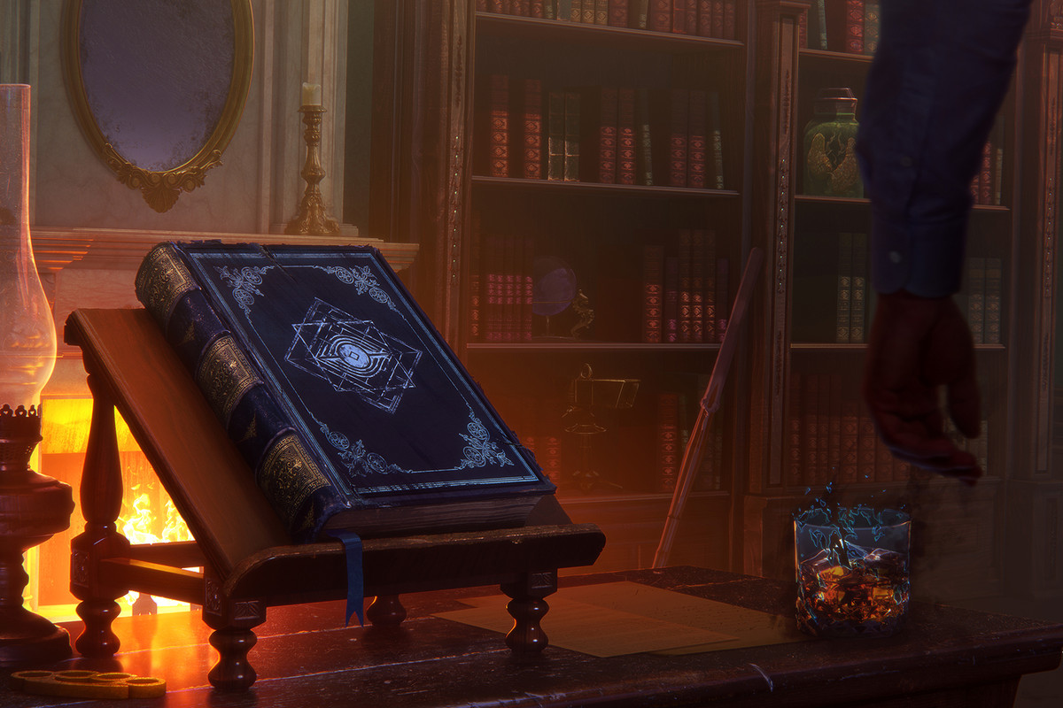 Dead by Daylight - The Archives' second installment's key art, depicting a big book of forbidden lore.