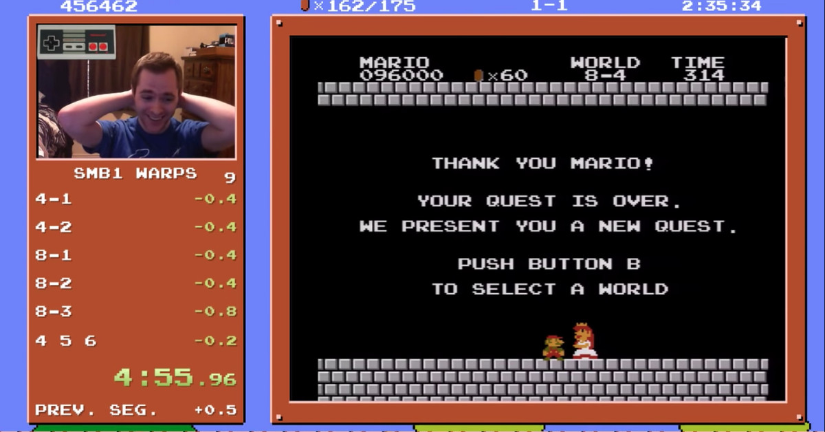 This Super Mario Bros  speedrun world record was thought to be