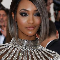 Jourdan Dunn's smoky silver eye was inspired by her gray ombre hair.