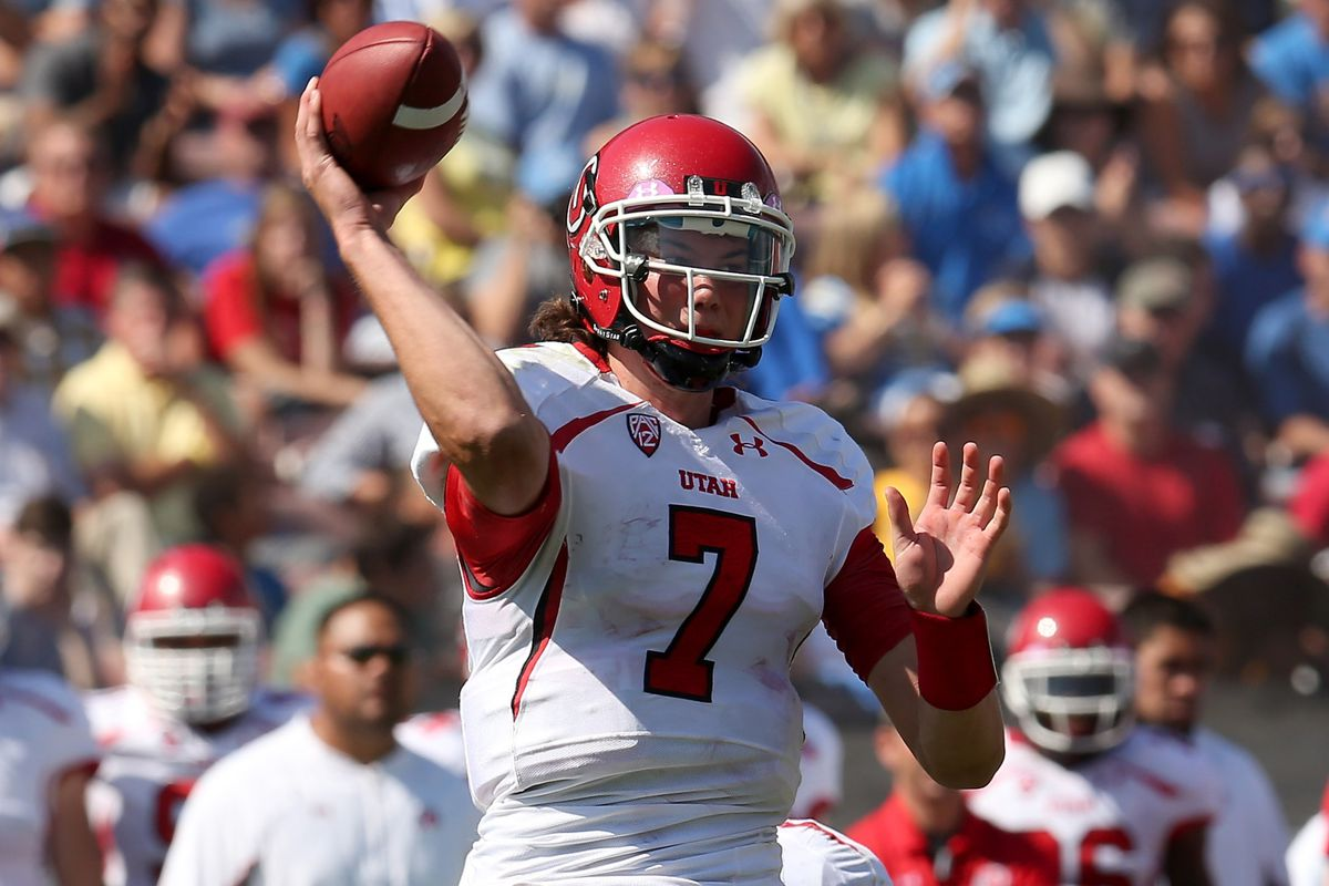 Travis Wilson made his starting debut as a Ute at UCLA in 2012.