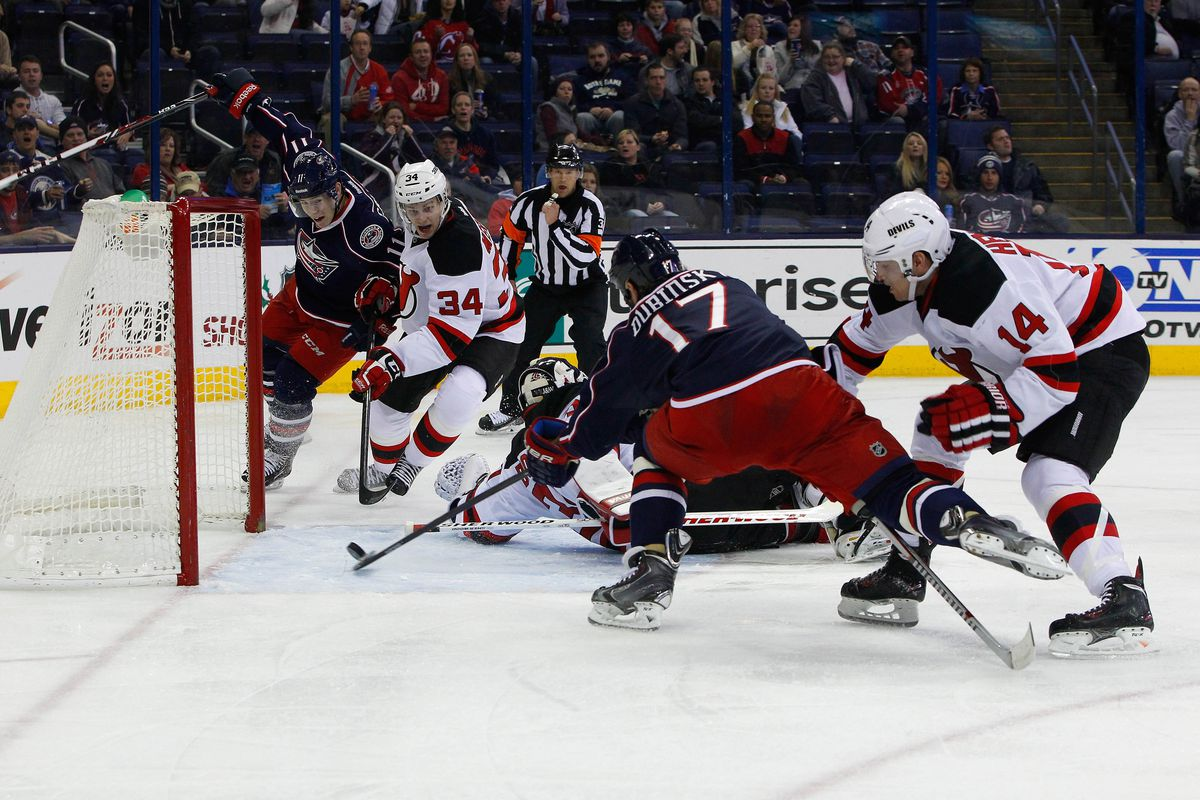 Pictured: the turning point of the game, as led by Brandon Dubinsky.