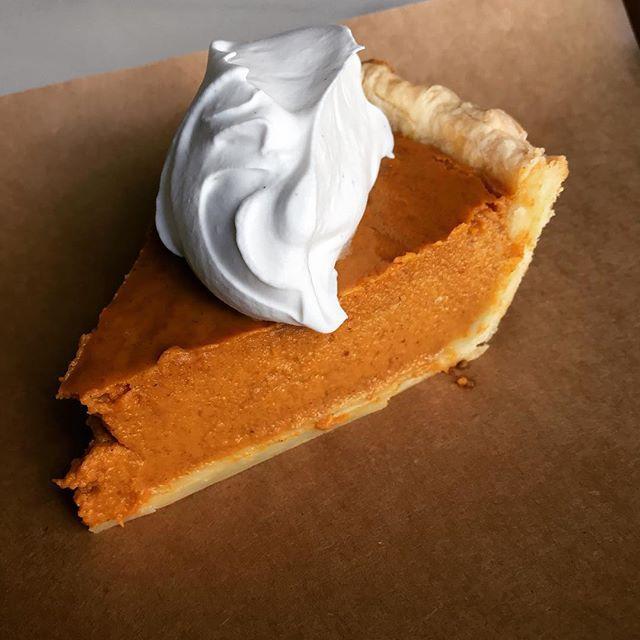 A slice of pumpkin pie at Smok