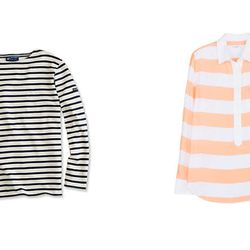 """The Expected: St. James Striped Top – The Update: <b>Equipment</b> Rugby Stripe Silk Top at <b>Neiman Marcus,</b> <a href=""""http://www.neimanmarcus.com/p/Equipment-Rugby-Stripe-Silk-Top-Equipment/prod154530201_cat39390731__/?icid=&searchType=EndecaDrivenCa"""