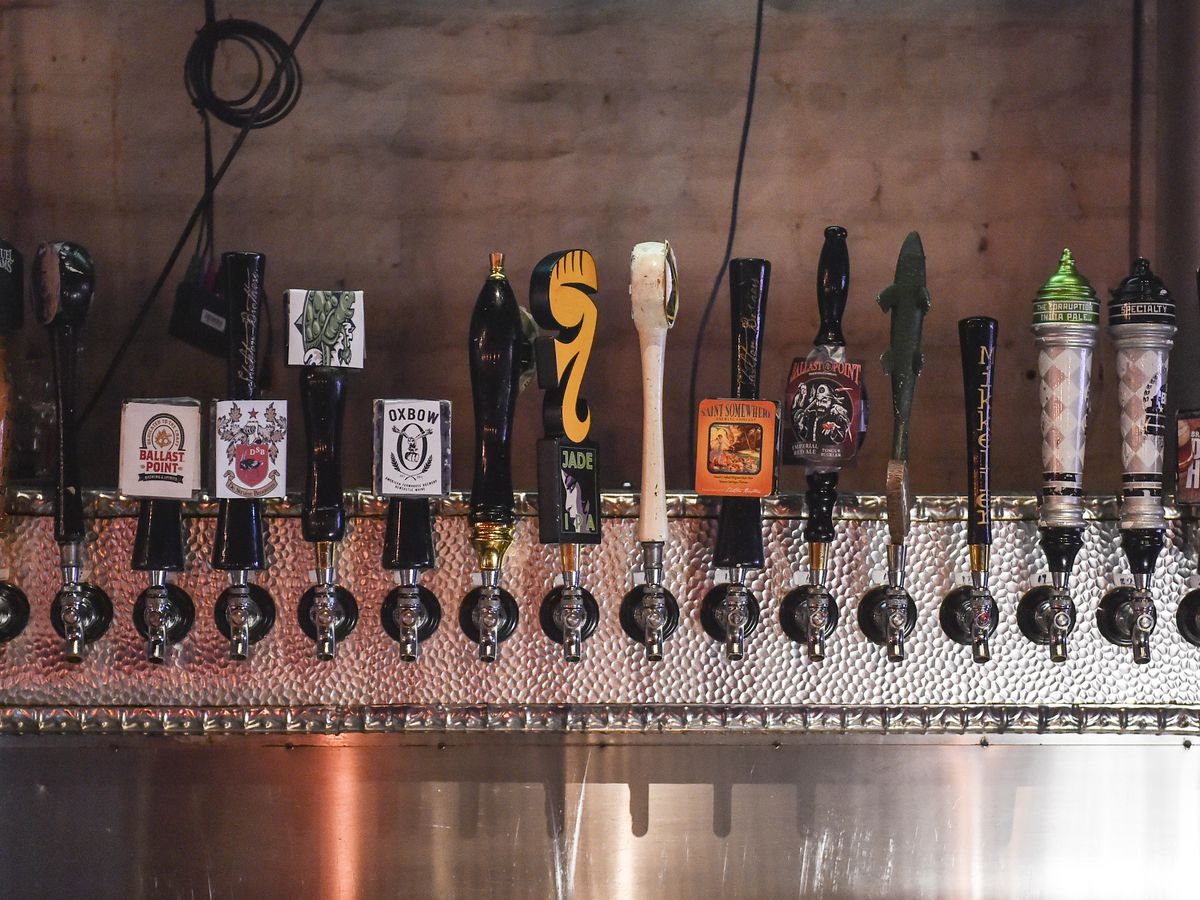 WASHINGTON, DC - JANUARY 7 : Shown is a portion of the taps at
