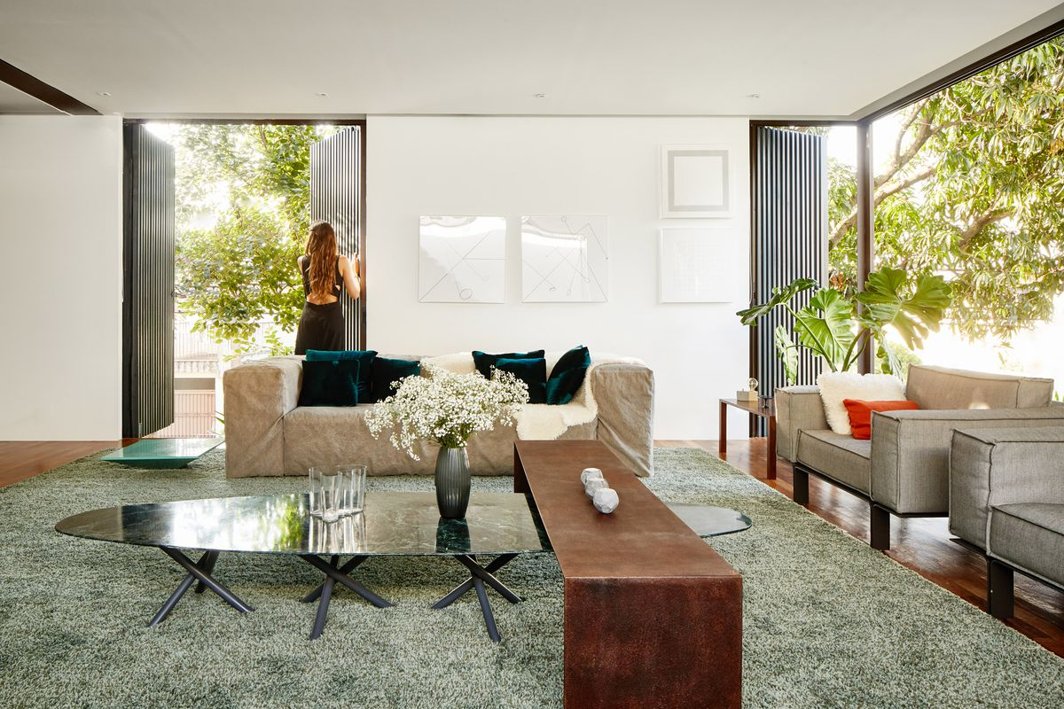 Living room with open walls