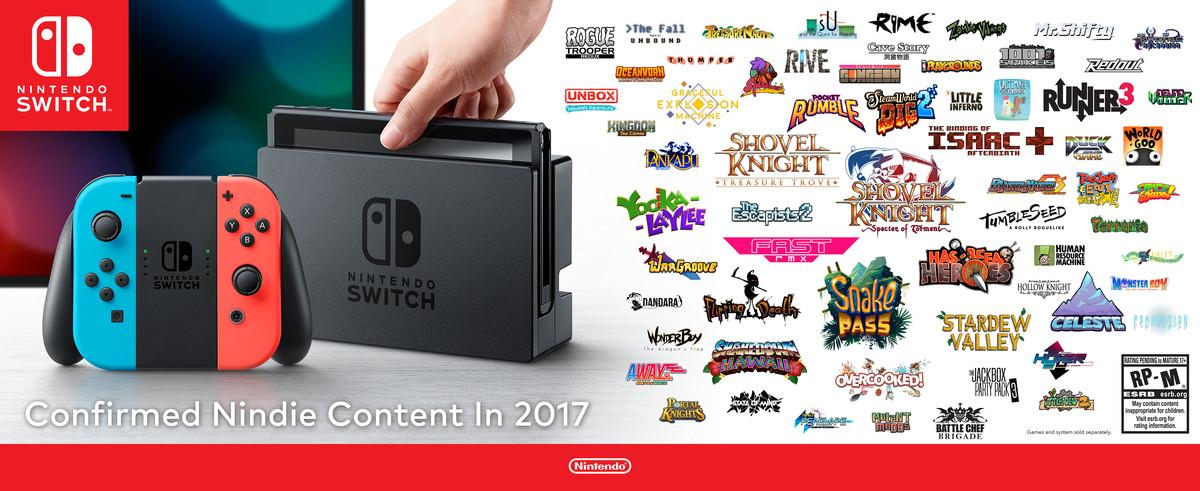 Nintendo Switch confirmed Nindie content in 2017