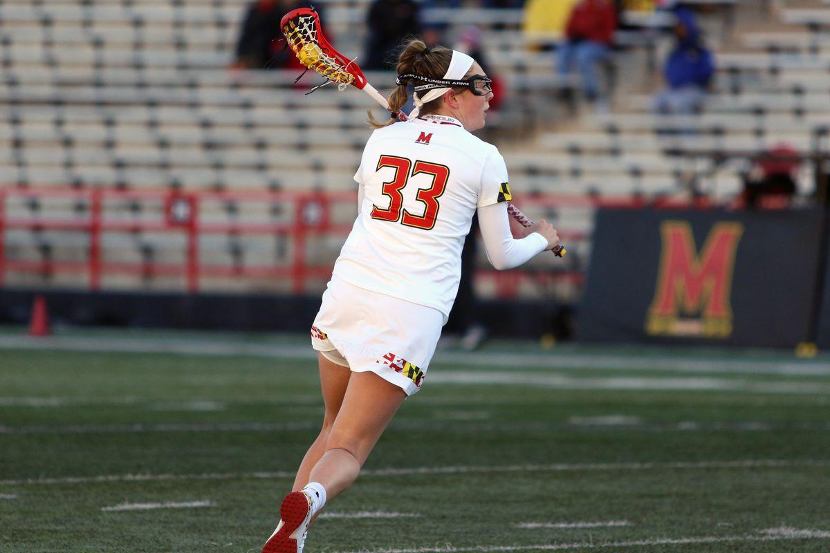 Maryland women's lacrosse Erica Evans vs. Michigan