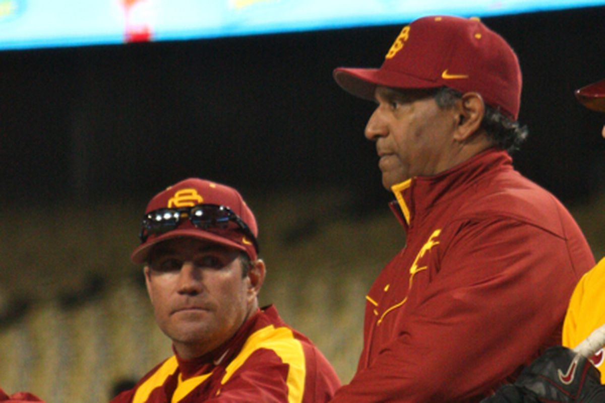 Dan Hubbs, left, will take over after Frank Cruz, right, was fired by USC.