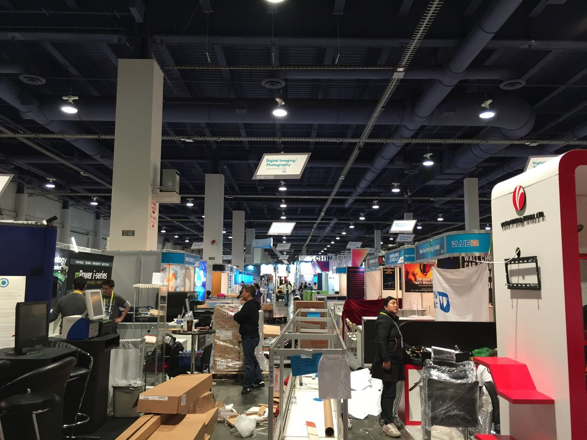 The back booths at CES