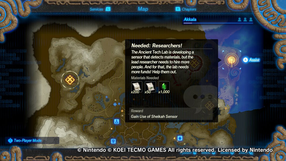 How To Use The Sheikah Sensor In Hyrule Warriors Age Of Calamity Polygon