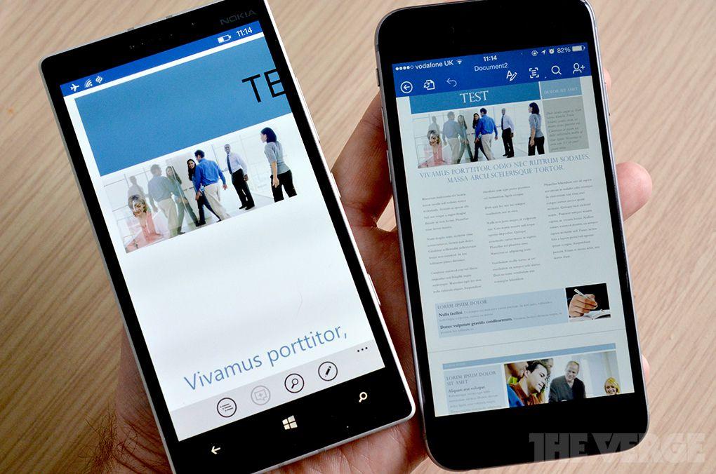 Office WP vs. iOS