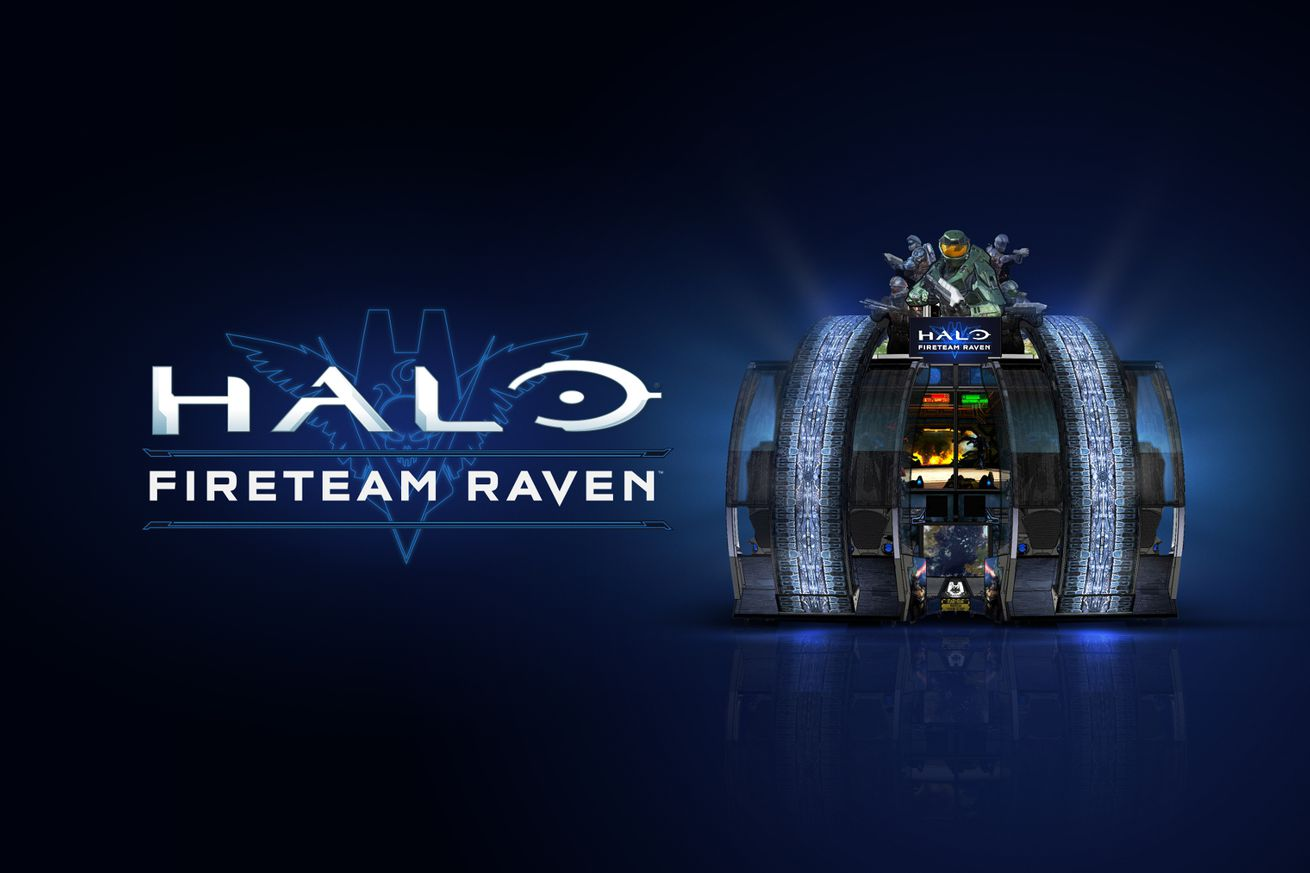 microsoft s new halo arcade game lives inside a giant coin operated machine
