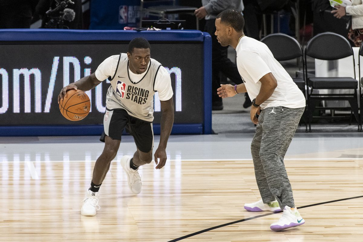 Kendrick Nunn played in this year's Rising Stars game at the United Center. | Tyler LaRiviere/Sun-Times