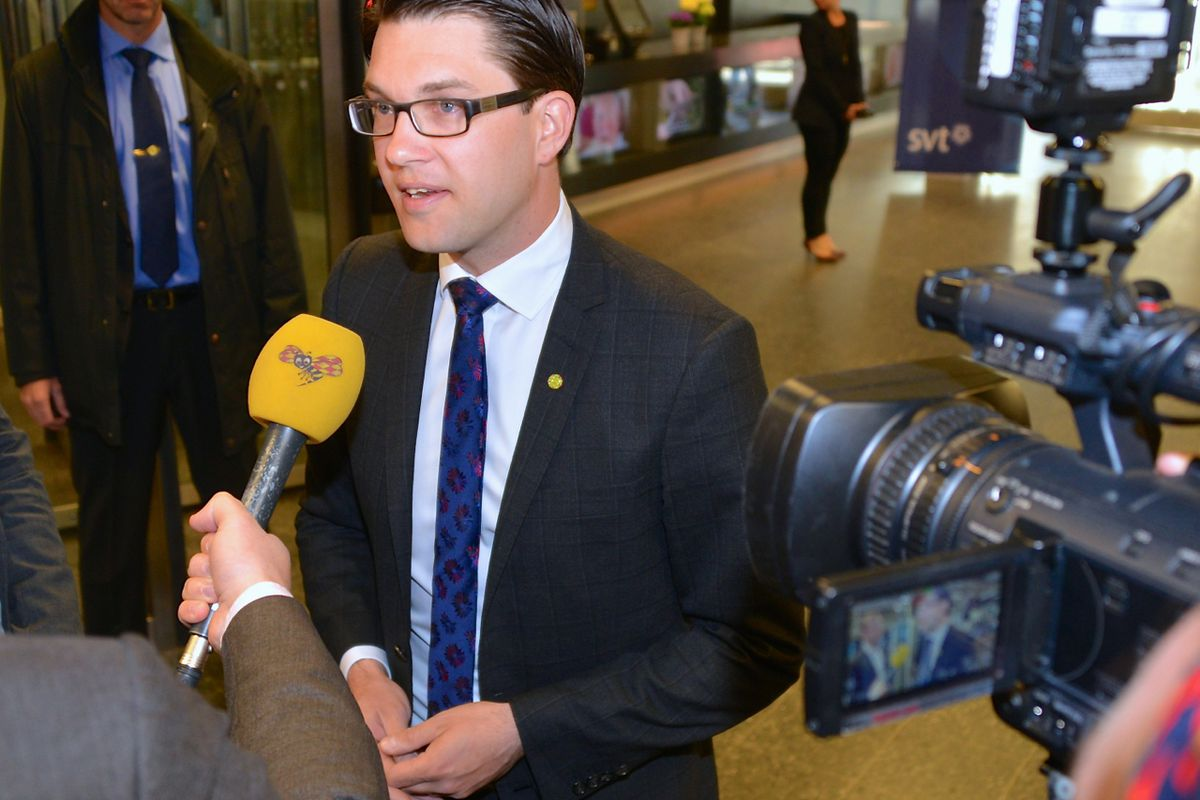 The leader of the Sweden Democrats, Jimmie Åkesson.