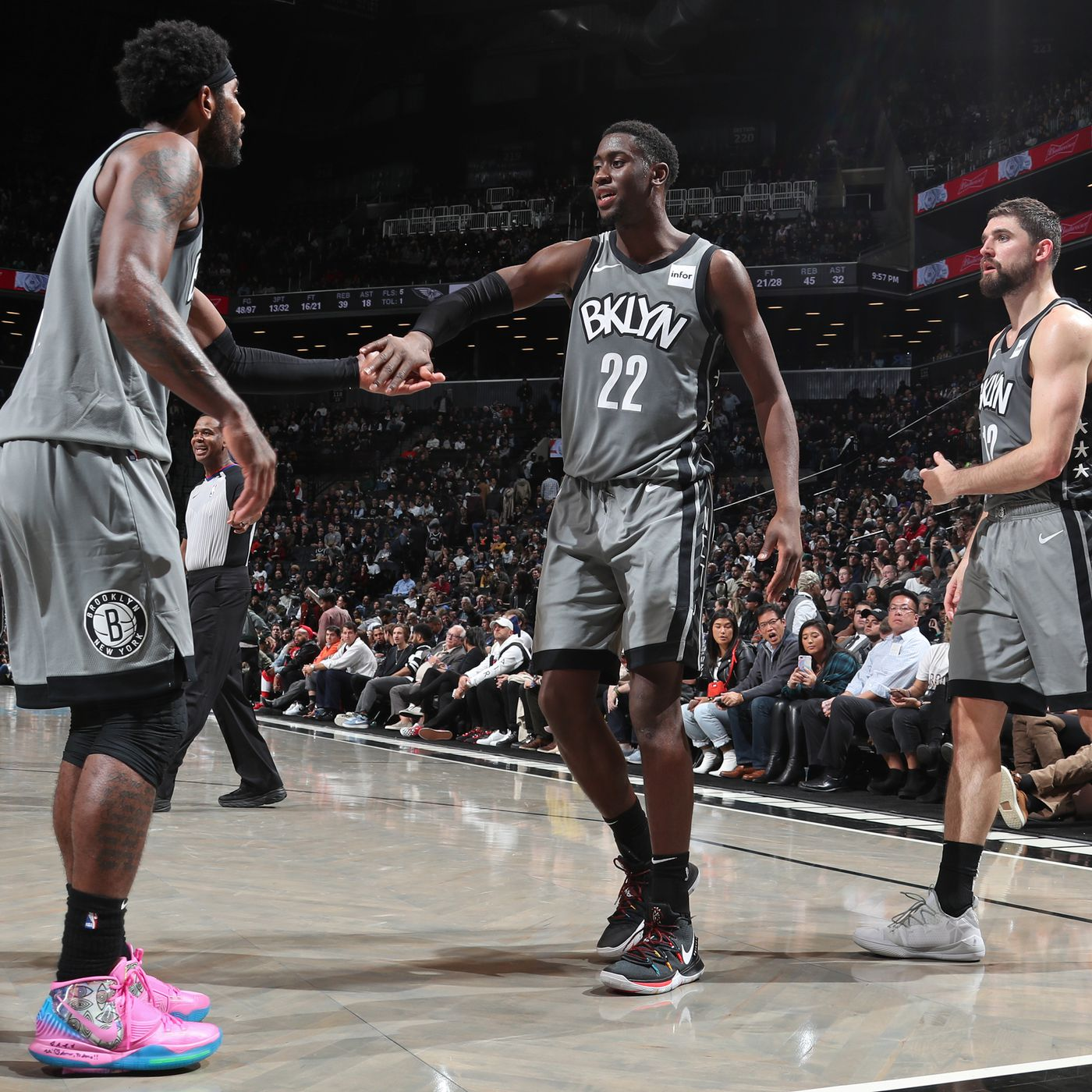 Passing Torches Kyrie Irving Calls Caris Levert To Offer Encouragement Netsdaily