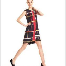 "<a href= ""http://www1.macys.com/campaign/social?campaign_id=202&channel_id=1&cm_sp=fashionstar-_-episode10-_-homepagelink&bundle_entryPath=/karaGallery"">Fashion Star Dress, Sleeveless Lauren Plaid Shift</a>, $79 at Macy's"