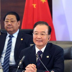 Chinese Premier Wen Jiabao attends a round table at an EU-China summit in Brussels, Thursday Sept. 20, 2012.