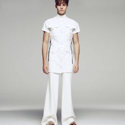 Plenty of pockets and oversized buttons on this all-white look.