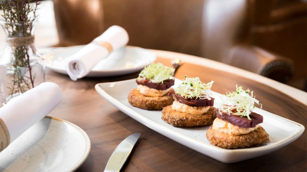 """Fried green tomato BLT at <span data-author=""""-1"""">Yardbird Southern Table &amp; Bar </span>"""