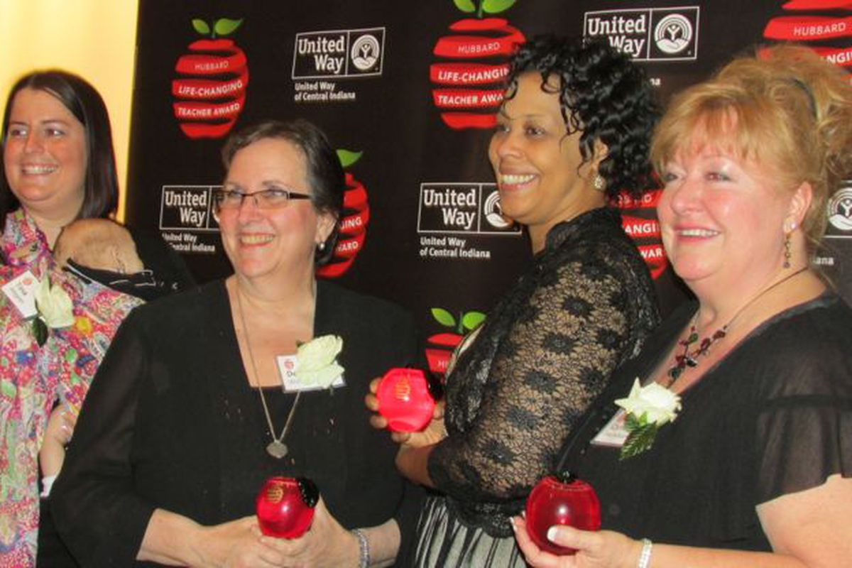Hubbard Life-Changing Teacher Award winners Tina Ahren, Deb Wolinsky, Rhonda Pierre and Cynthia Hartshorn at last year's awards dinner.