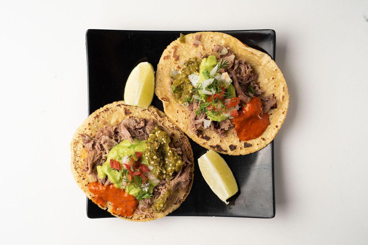 Lamb barbacoa tacos at Lanea