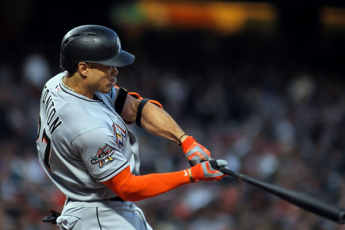 best loved d2c93 8387b Giancarlo Stanton trade: Marlins deal MVP outfielder to ...