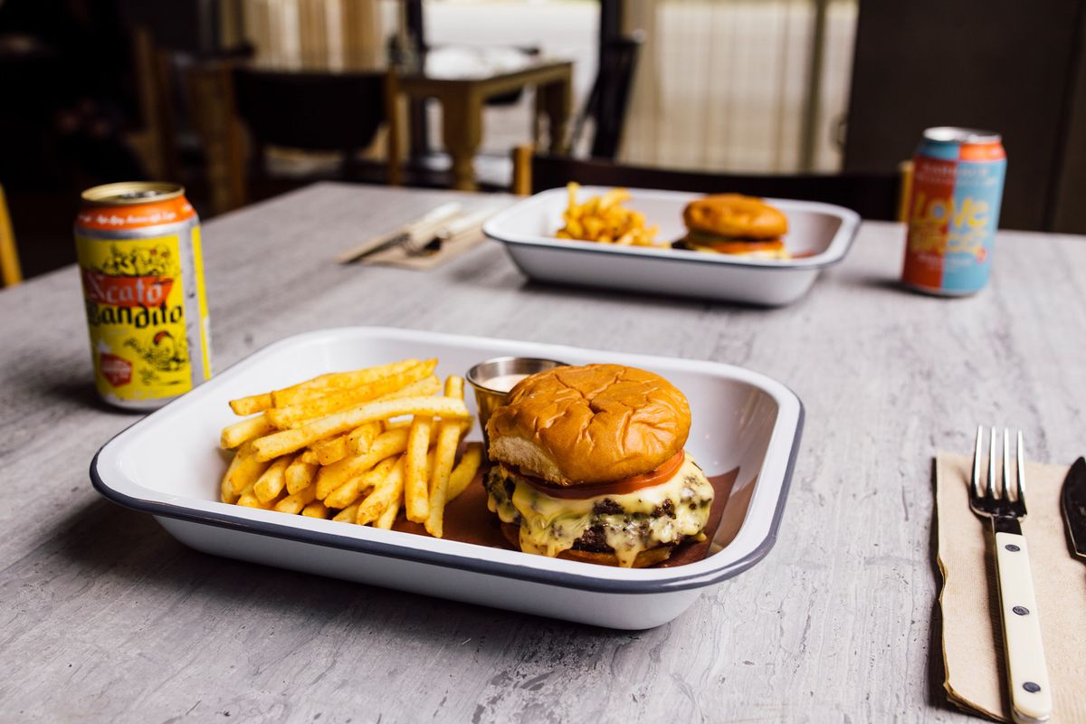 Burger and fries from Dean's One Trick Pony
