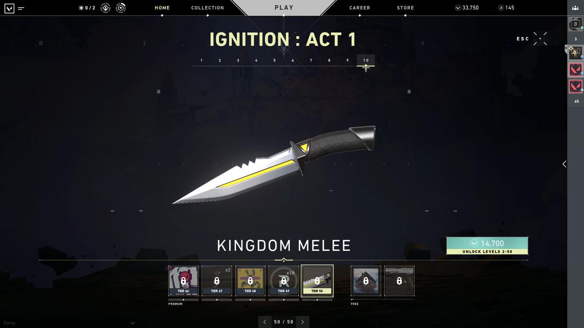 Valorant's Kingdom Knife skin