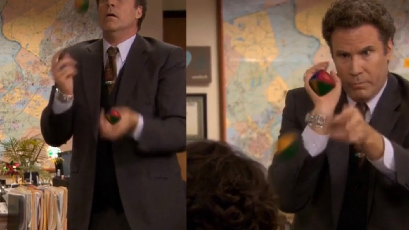 Will Ferrell's Iconic Juggling Is Even Better With Actual Balls