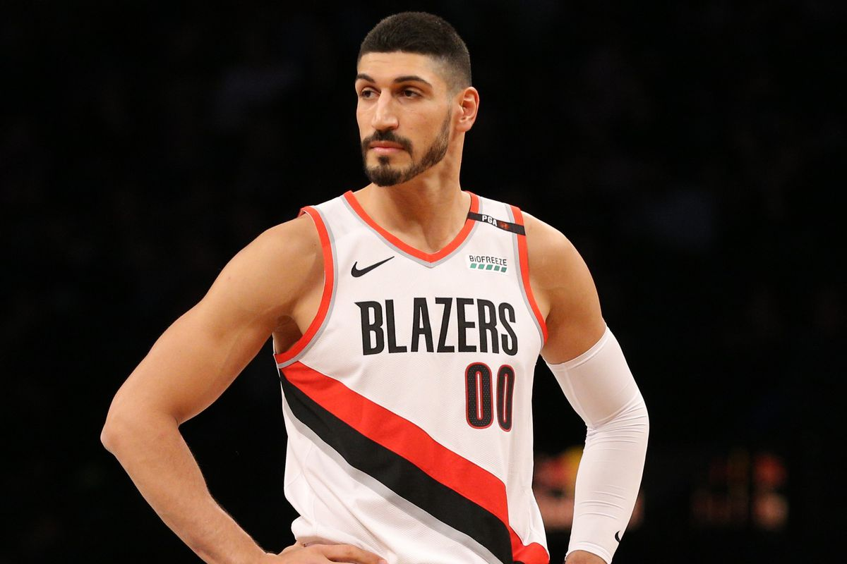 Image result for enes kanter blazers usa today