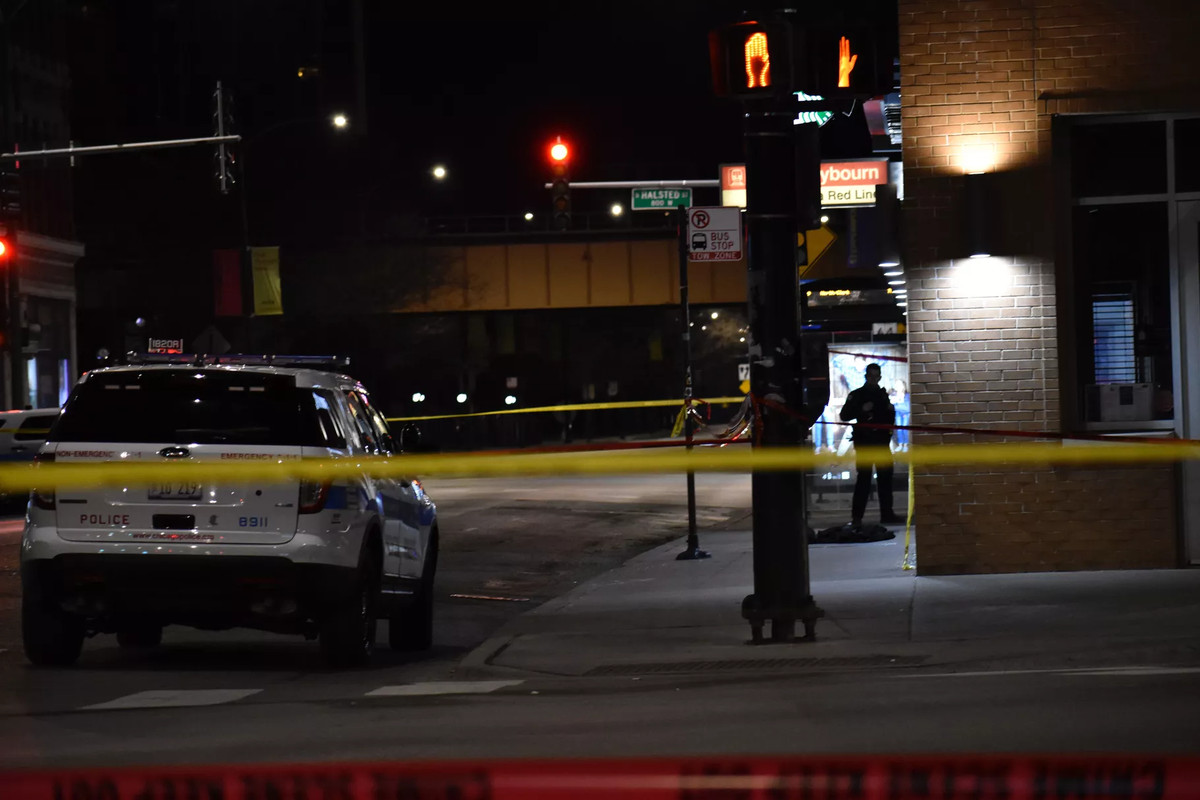 Police investigate at the North/Clybourn CTA Red Line station Feb. 24, 2020, after a teenage boy stabbed in the 1600 block of North Bissell Street ran to the station to get help.