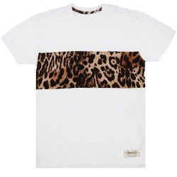 """<strong>Monitaly</strong> Front Panel Contrast Tee in White/Cheetah, <a href=""""https://www.openingceremony.us/products.asp?menuid=1&catid=21&designerid=513&productid=104911"""">$110</a>"""