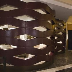 Inside these leather pods sit the first teppanyaki grills in a Nobu.