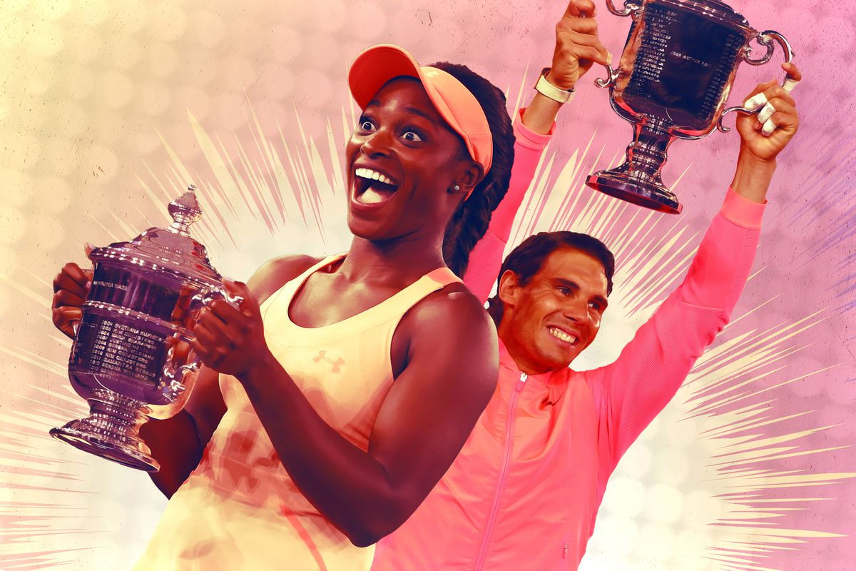 Sloane Stephens and Rafael Nadal
