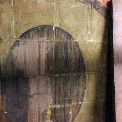 A mural of a beer keg