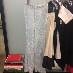 Sheer blue pants, $100