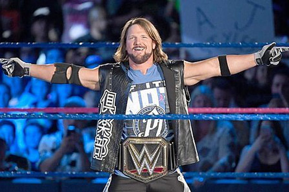 Professional wrestler AJ Styles retained the WWE Heavyweight title on Sunday night at the Wrestlemania 34 event.