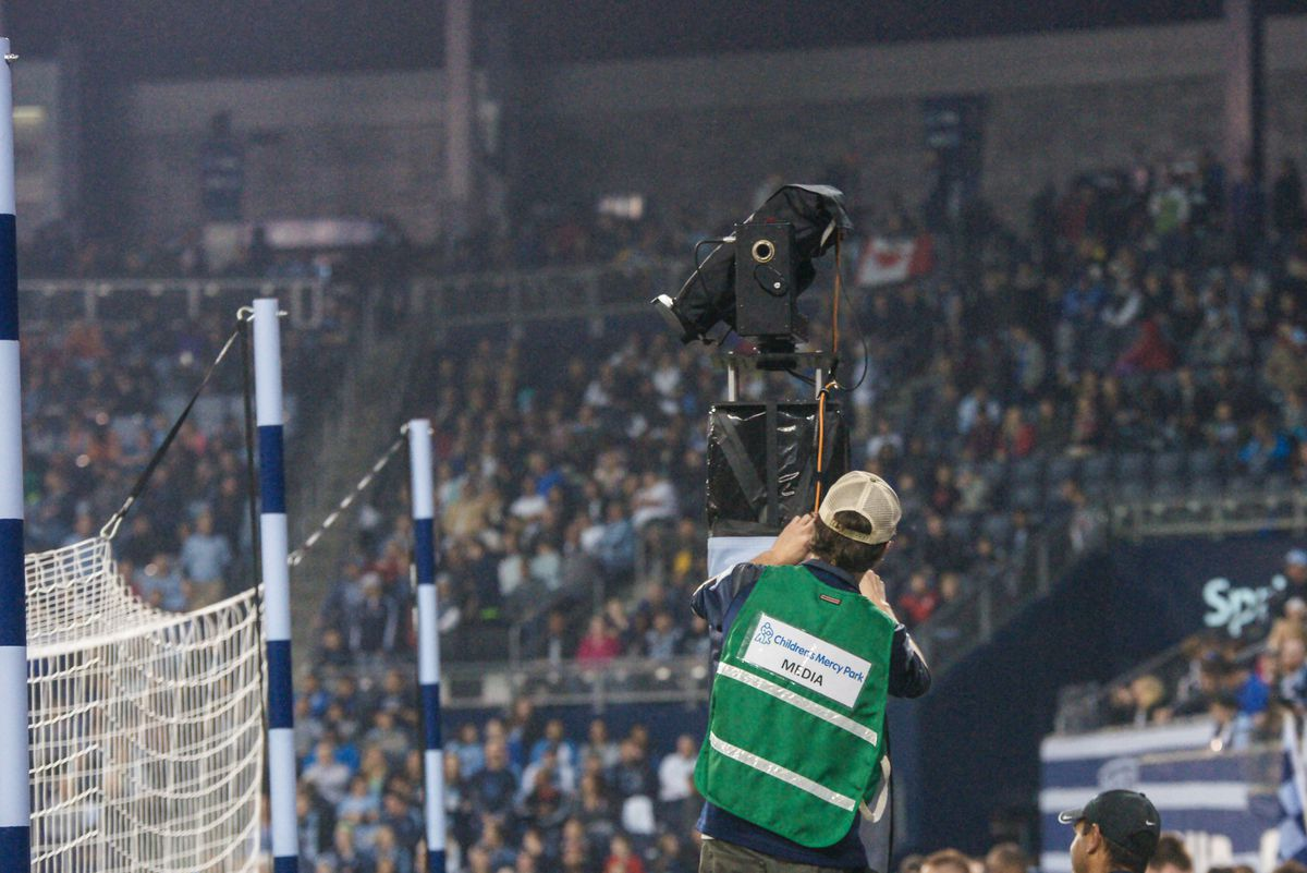 The Robo-cam beng adjusted in the first matc