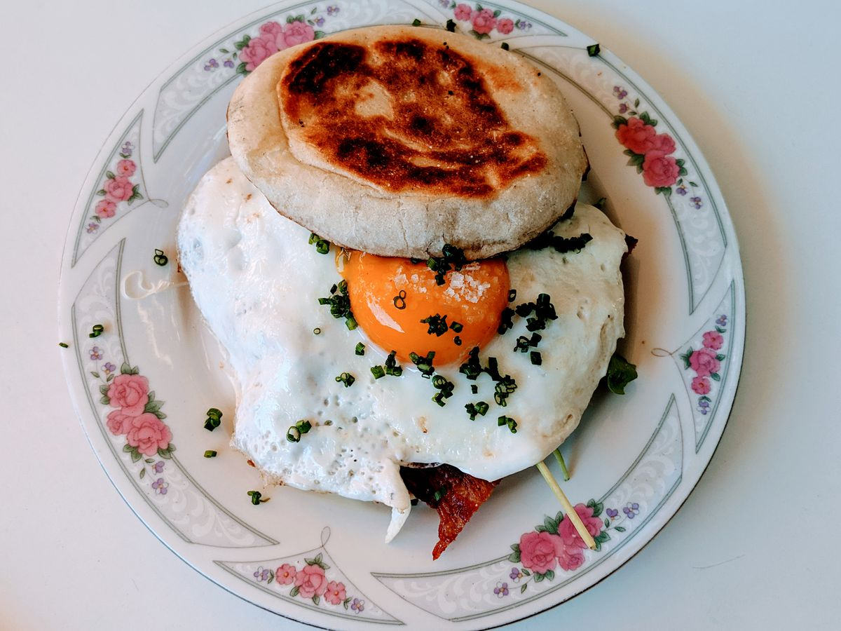 Egg sandwich at Lately in Chinatown