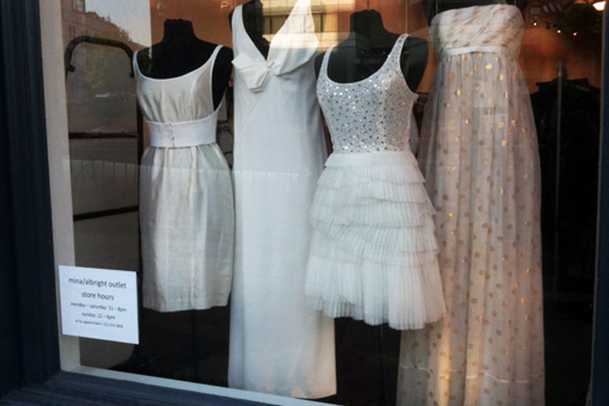 Designer dresses that could double as wedding gowns at Mina NYC