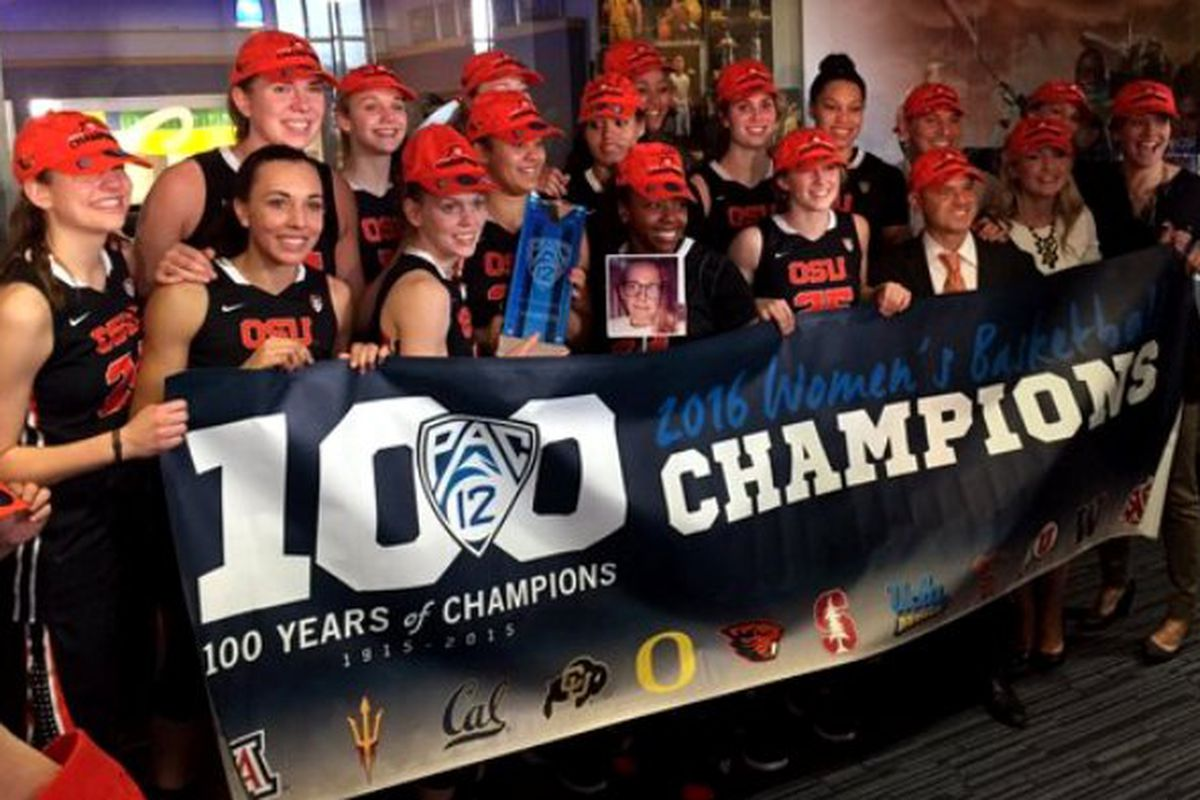 By defeating California 54 to 44 Oregon State earns their second in a row Pac-12 regular season championship