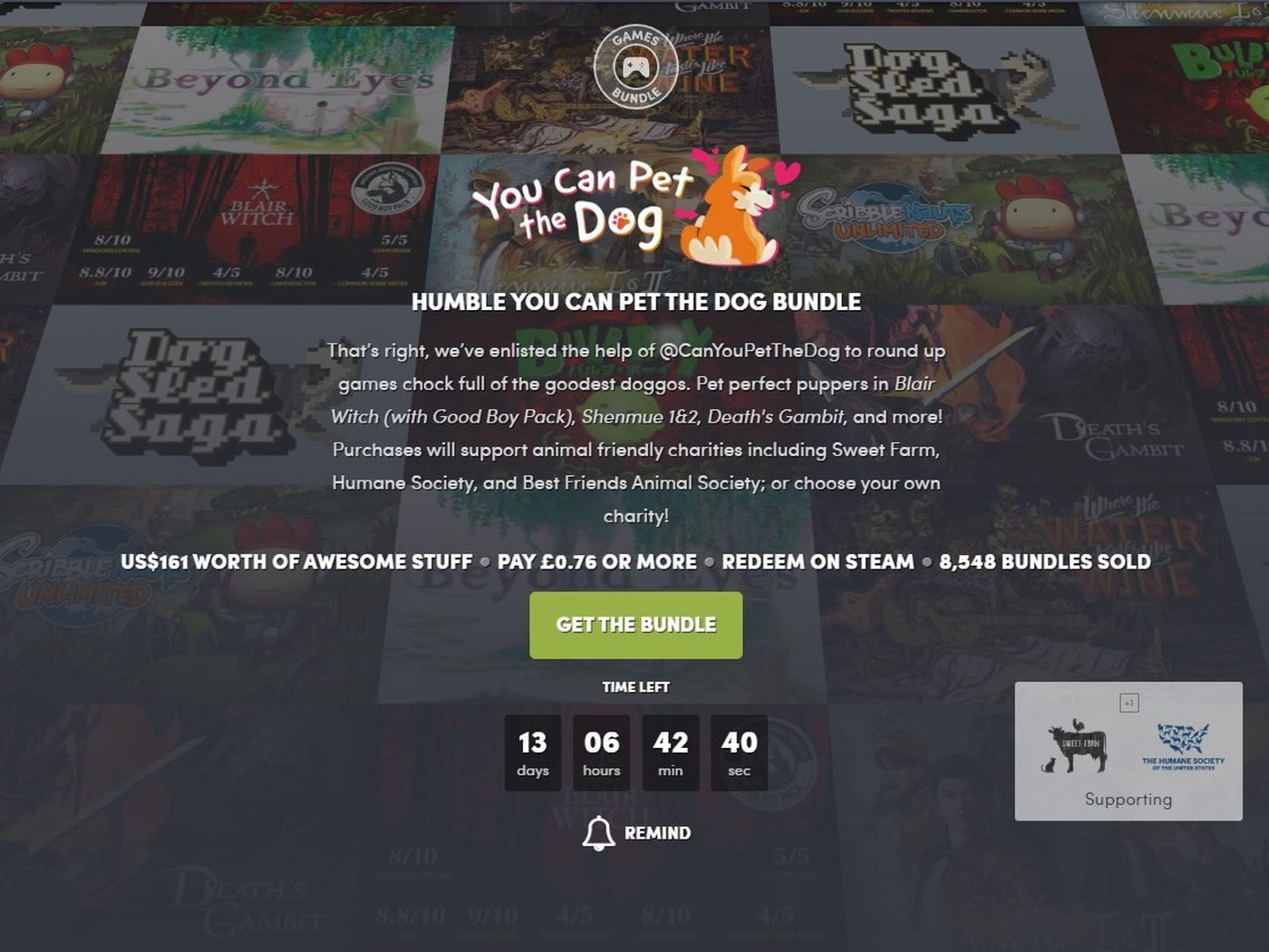 We Re Delighted To Say You Can Pet The Dogs In This Video Game Bundle The Verge Several users state that while they like knowing what games will be released each. dogs in this video game bundle