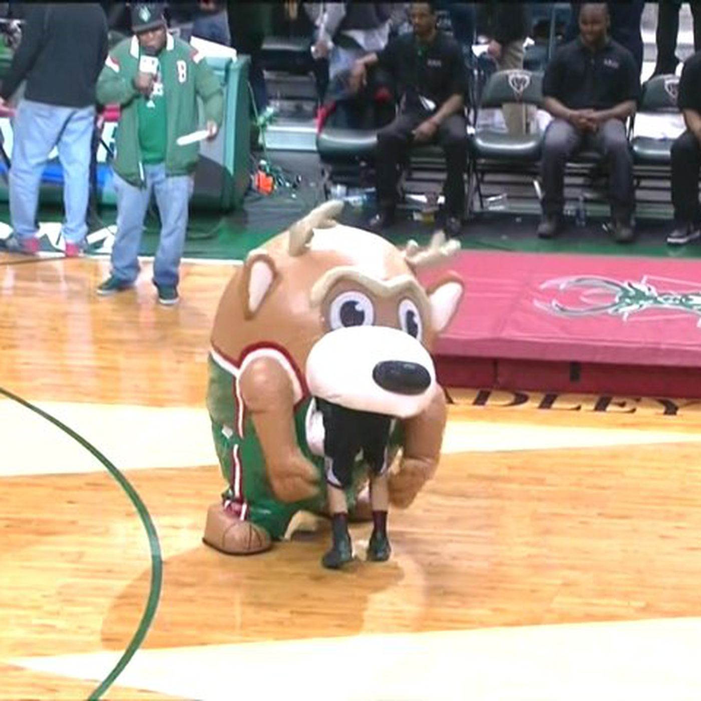 Man Eating Inflatable Bucks Mascot On The Loose In Milwaukee