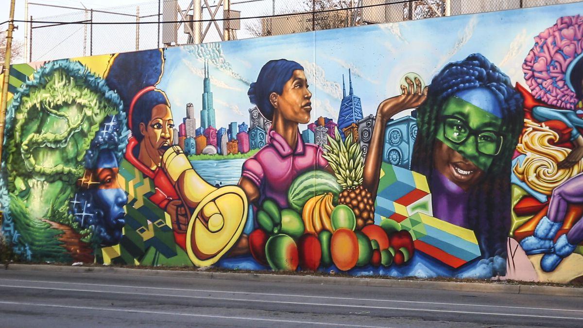 A mural in the Auburn Gresham neighborhood. | Brian Rich/ Sun-Times