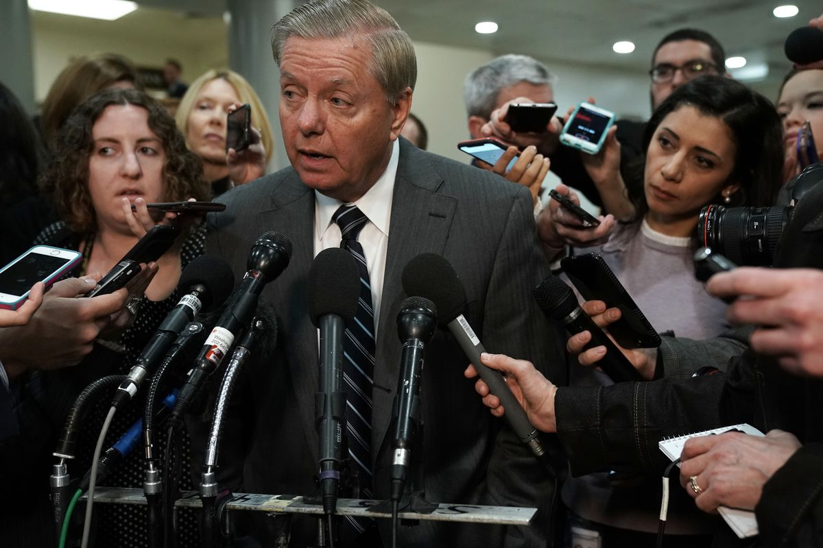 Sen. Lindsey Graham (R-SC) speaks to reporters on December 4, 2018 about what he learned in a briefing by CIA Director Gina Haspel about Jamal Khashoggi's murder.
