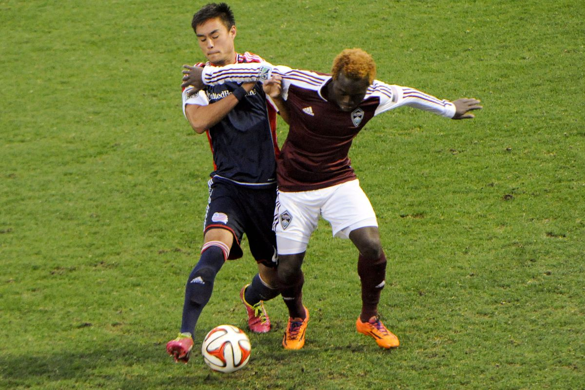 Charles Eloundou is one of the few new faces donning the Rapids kit this weekend