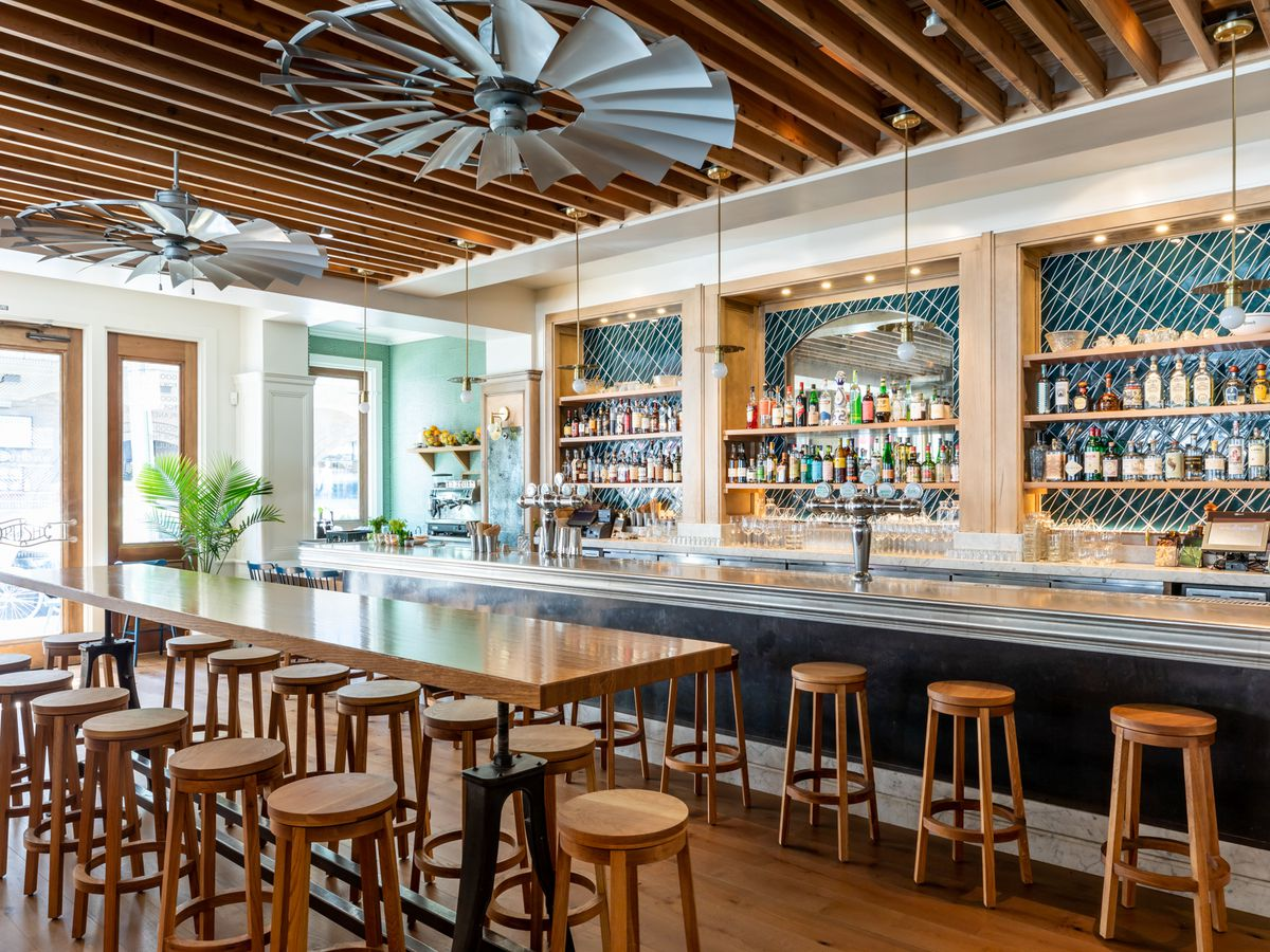 The bright bar area at Wildseed in Cow Hollow