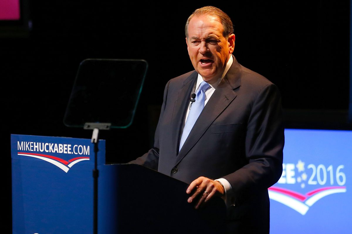 Mike Huckabee, who's running for the Republican presidential ticket, is an evangelical Christian and a big opponent of LGBT rights.