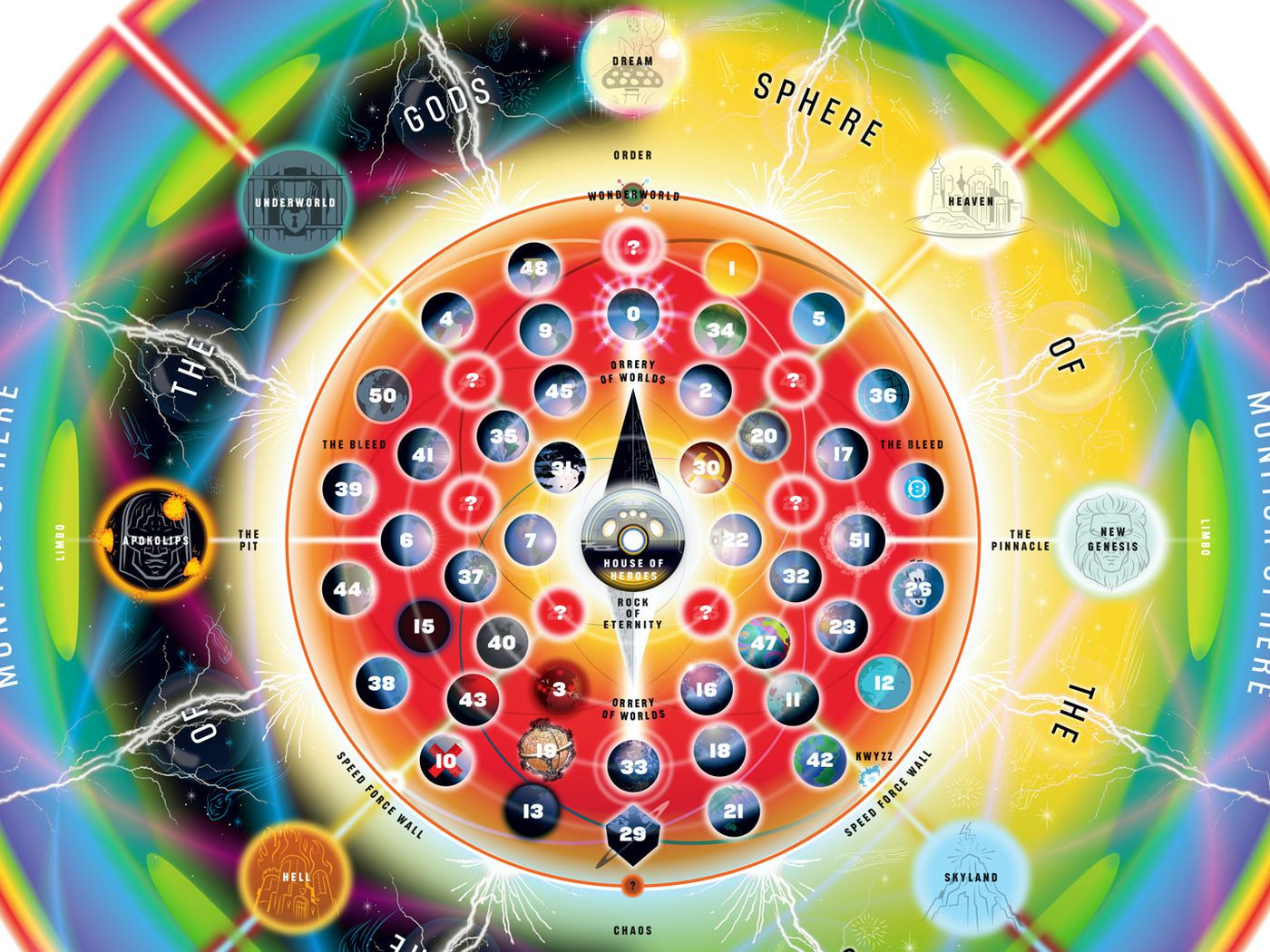 Dc Map Of The Multiverse A DC Comics guide to the multiverse's 52 Earths and alternate