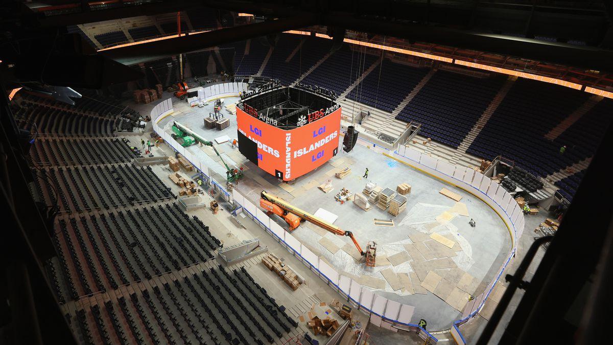 UBS Arena Construction Continues Ahead Of New York Islanders Season